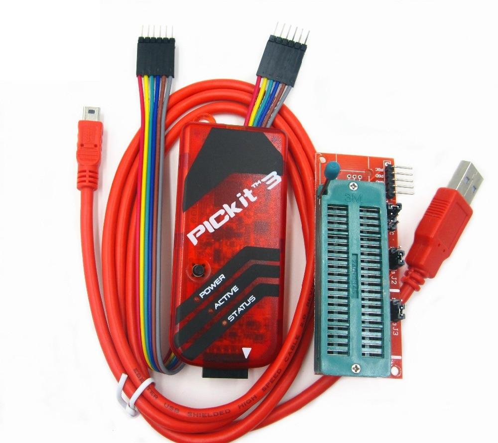 PICKIT3 Programmer + PIC ICD2 PICKit 2 PICKIT 3 Programming Adapter Universal Programmer Seat pickit3 programming emulator pic microcontroller minimum system board development board universal programmer seat