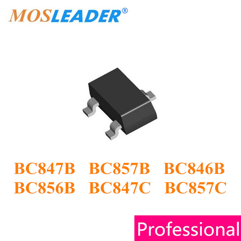 Mosleader SOT23 3000PCS BC847B 1F BC857B 3F BC846B 1B BC856B 3B BC847C 1G BC857C 3G BC847 BC857 BC846 BC856 High quality mosleader dip pt908 7c f 1000pcs