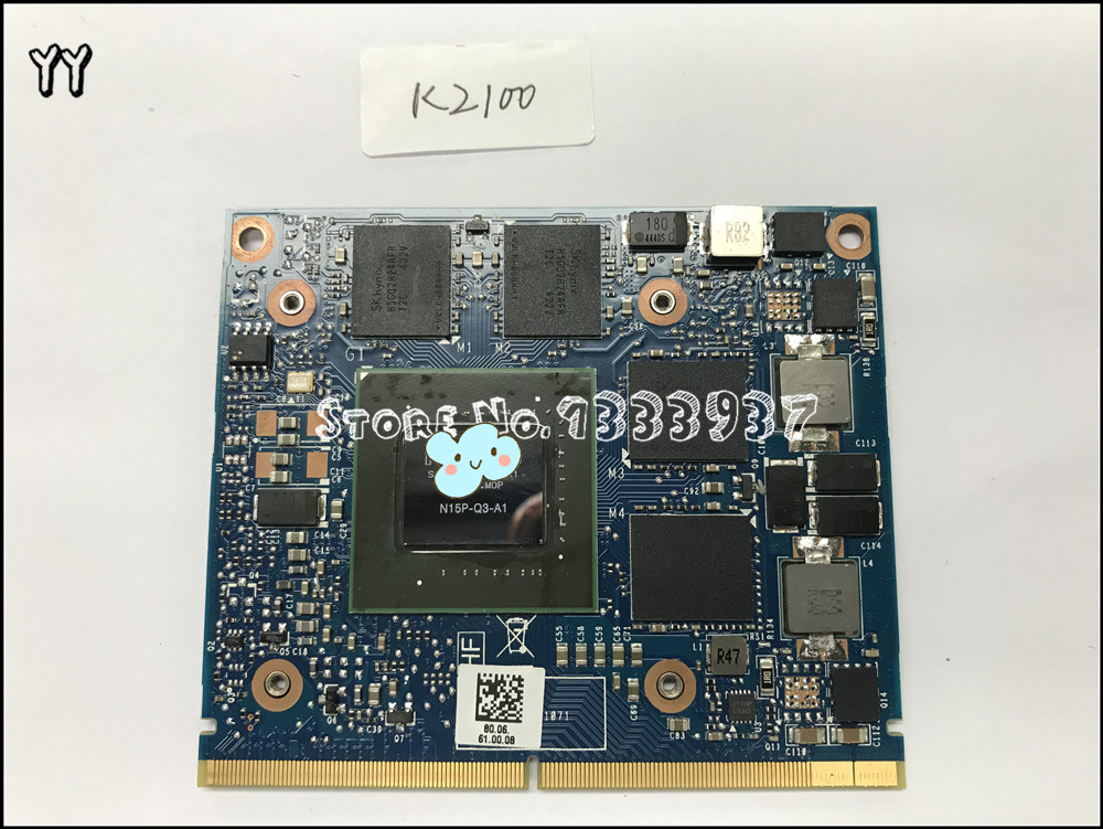 K2100 K2100M 2GB N15P-Q3-A1 DDR5 VGA Video Graphics Card for HP EliteBook 8570W 8770W & 8560W DC ZBOOK 15 ZBOOK 17 image