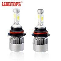 LEADTOPS 2Pcs H4 LED H7 9003 9007 9008 COB Auto Car Headlight 72W 8000LM High Automobiles