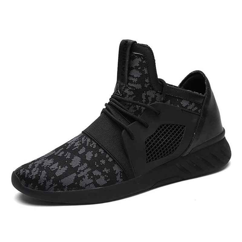 Respirant Up Chaussures Adulto Masculino Solide Couleur black black Hommes Mode Black Ash And Bout 2018 Rond Casual Lace Appartements White Mesh Tenis IfY7ygvm6b