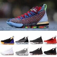 1c0fda1876e3 LeBron 16 Taze Bred basketbol ayakkabıları LeBron 16 Oreo AO2595-006 LeBron  16 Üçlü Siyah james 16 boyutu us7-us12