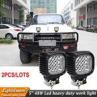 Pair Of 48W 16LEDS Led Worklight 12V 24V 3800Lumens IP67 LED Heavy Duty Working Light Car