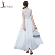 Zanzea Sale Women Dress Summer 2018 New Fashion Solid Color Chiffon Party Ladies Large Size Short-sleeved Slim Xy11