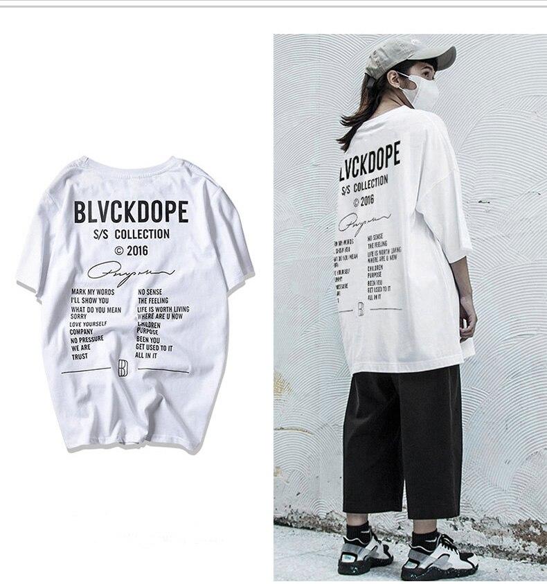Punk Blvckdope   T  -  shirt   kanye west Hip Hop tshirt New design Street men clothes Cool fashion men   t     shirt   summer top camisetas