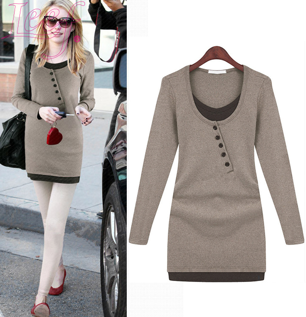 2015 Spring New Arrival Women's Fashion Sweater Big Size Long ...
