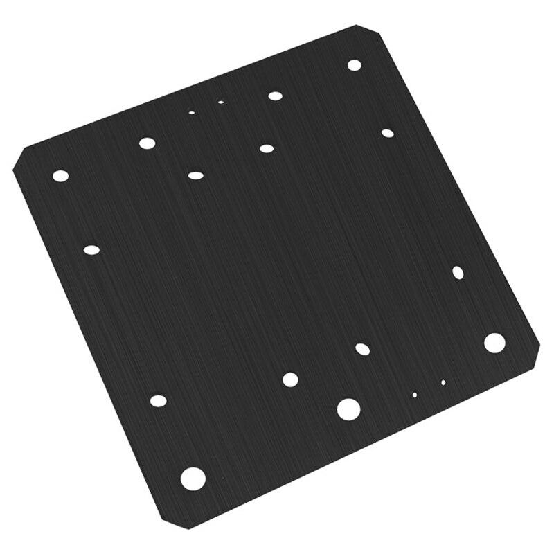 Professionelle Cnc Gravur Maschine Workbee Platte Set Gebäude Platte Xyz Welle Montage Platte Schwarz metall panel Für Openbuilds