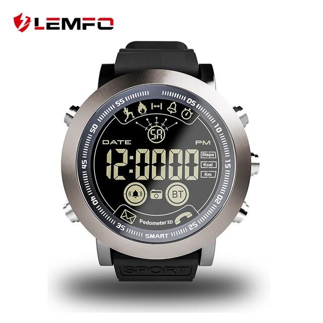 LEMFO LF23 Smart Montre Hommes Sport Professionnel IP68 Étanche 610 mah Batterie 33 Mois Longtemps Veille Vintage Horloge