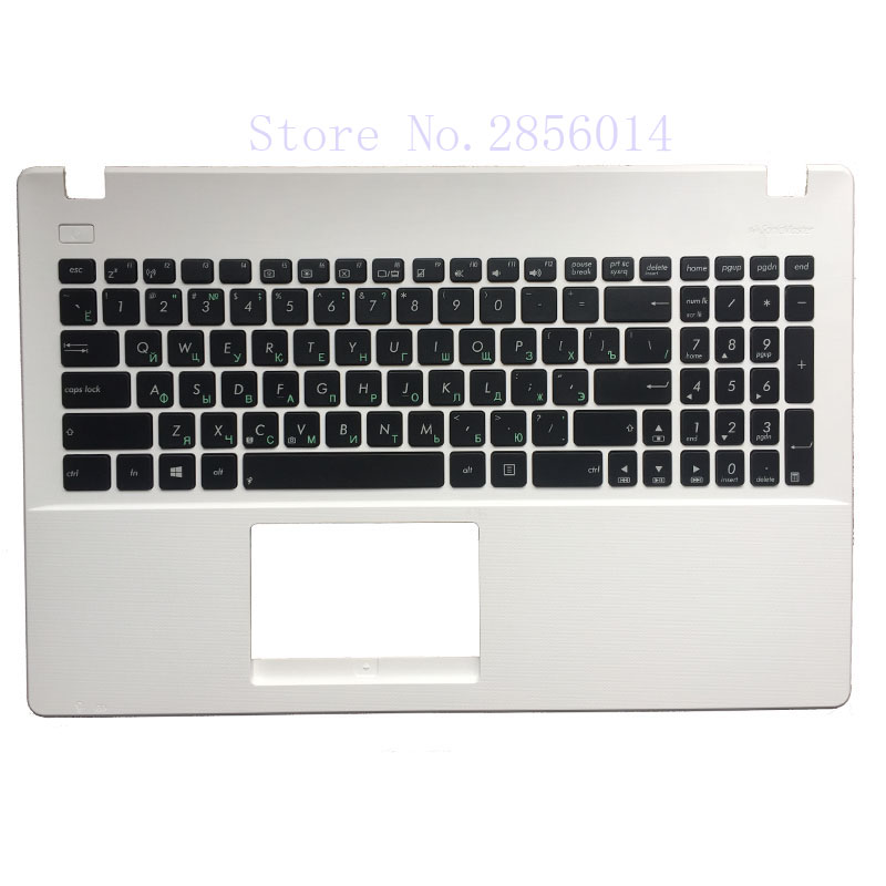NEW Ruaaian For Asus X551 X551C X551M X551S RU Laptop keyboard White with Palmrest Upper cover free shipping new russia white laptop keyboard for msi wind u130 u135 u135dx u160 u160dx ru white frame laptop keyboard