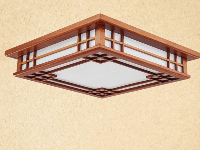 Asiatische Chinesische/Japanischen Stil Deckenleuchte Led Mahagoni Holz  Lichter Deckenleuchten Schlafzimmer Wohnzimmer Dekorationen Beleuchtung