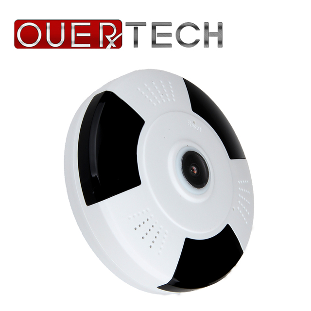 US $27 72 35% OFF|OUERTECH Full view 360 Degree Night vision WIFI Panoramic  960P Fisheye Wireless Smart IP vr Camera support 64g app v380 -in