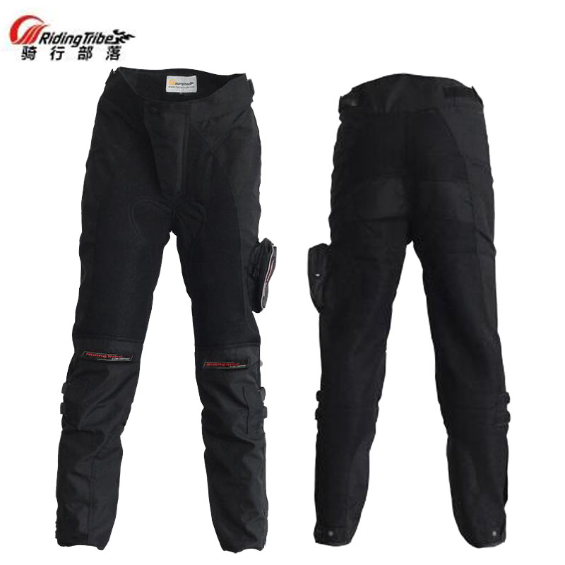 цена на Summer Breathable Riding Tribe HP-02 Motorcycle riding pants Motocross Moto Racing Trousers Knight equipment with Knee Pads