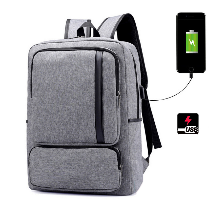USB charging Laptop backpack men Preppy Style Casual business Computer Backpack for Teenager bagpack youth Back bag