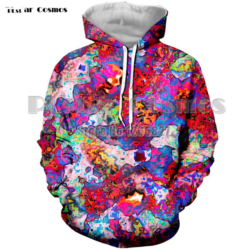 Colorful Psychedelic Hoodies For Men Trippy 3d Print Hooded Sweatshirts Men Cool Hoodies 3d Pullover Plus Size XS-7XL Coat