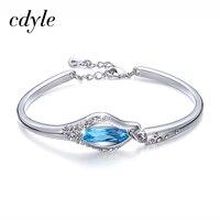 Cdyle Chic Bangles Women Bangle Fashion Bracelets Women Bracelet Crystals From Swarovski Charm Austrian Rhinestone Paved
