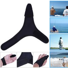 Non-Slip Single Finger Casting Fishing Glove Sea Ice Rock Fly Single Finger Protector Adjustable Outdoor Fishing Gloves