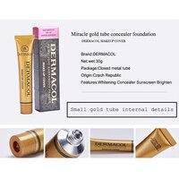 2pcs Original Dermacol base primer corrector concealer cream makeup base tatoo consealer face foundation contour palette 30g