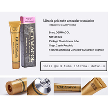 2 pcs Original Dermacol cartilha base corrector consealer tatoo rosto fundação corretivo creme base de maquiagem contour palette 30g