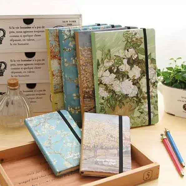 Van Gogh Vintage Oil Painting Cute A6 Notebook Diary For Student Gift School Supplies головной убор van gogh adiga fdj15001