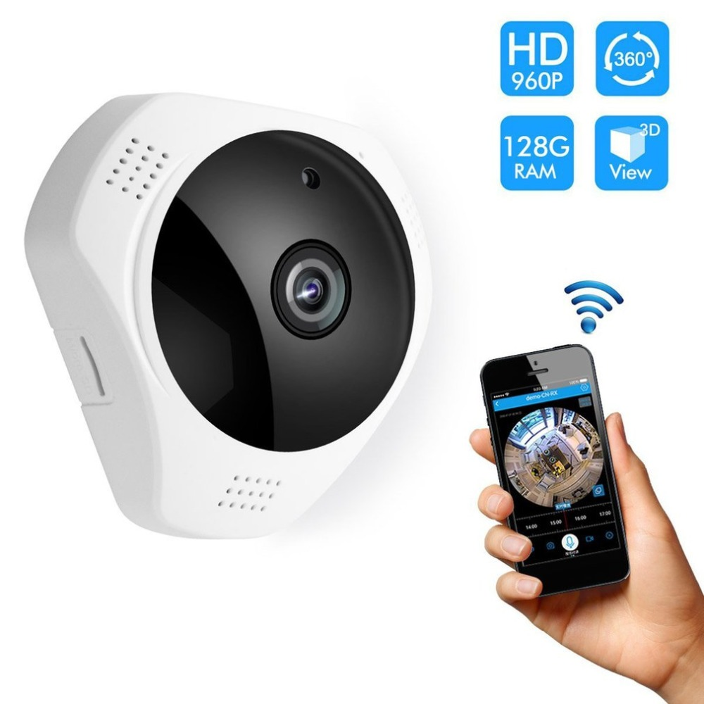 Panoramic Wireless IP Camera Motion Detection Night Vision Security System for Baby Pet ElderPanoramic Wireless IP Camera Motion Detection Night Vision Security System for Baby Pet Elder