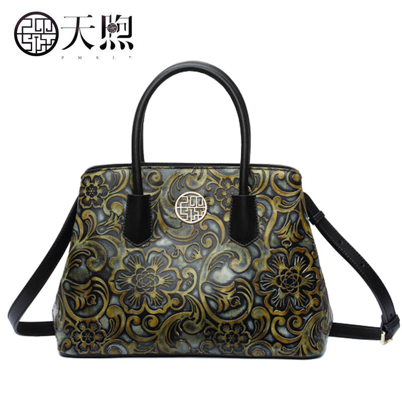 Фото Famous brand top quality dermis women bag 2017 new box bag Embossed leather handbags rub color vintage shoulder Messenger bag