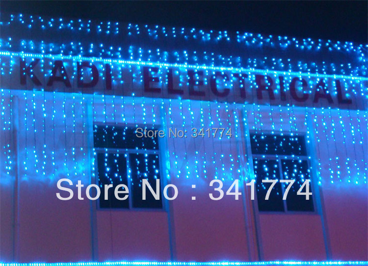 6*1.5m Waterfall Lamp LED String Light Garden Christmas tree Garland Curtain Holiday Wedding party outdoor Lighting Supplies 10m battery operated fairy lights led string garland curtain lamp for wedding indoor holiday lighting christmas tree luminaria