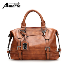 Amarte Ladies Messenger font b Bag b font Vintage Women Handbag 28cm 13cm 20cm PU Leather
