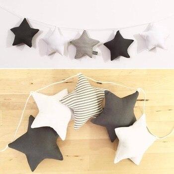 INS Nordic Baumwolle Sterne Hängen Girlande String Ornamente Beste Geschenke Für Mädchen Kinder Zimmer Dekoration Banner Wimpel Foto Prop