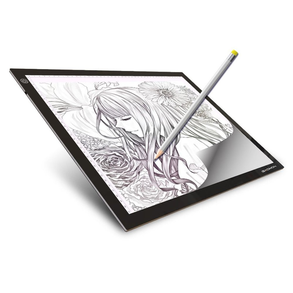 A3 Portable LED Drawing Board Eyesight Protection Touch Dimmable Tracing Table a3 portable led drawing board eyesight protection touch dimmable tracing table light pad box for 2d animation sketching dropship