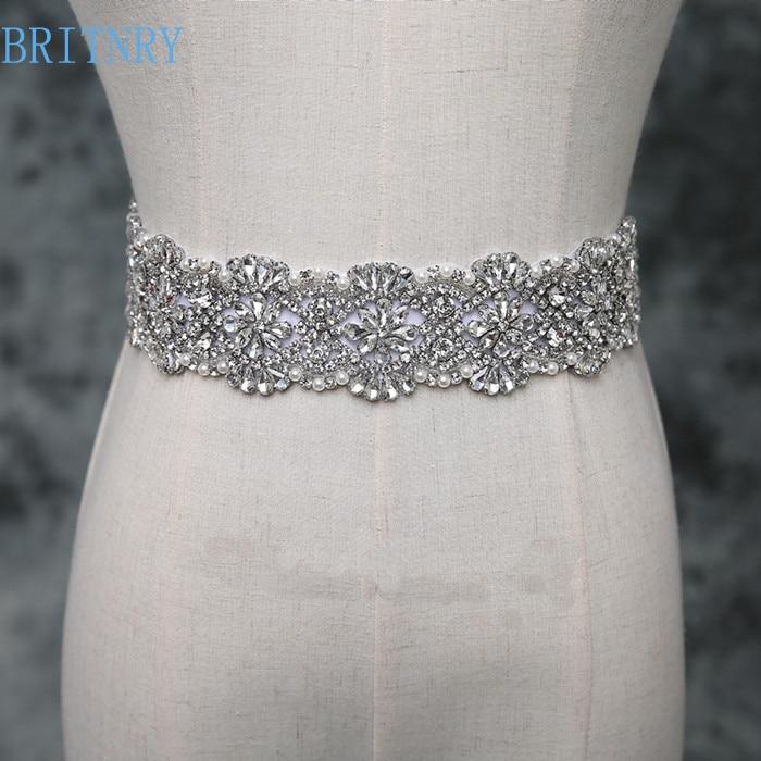 Unique Wedding Dress Sashes Belts: BRITNRY 2018 Real Photos Crystal Belt Luxury Rhinestone
