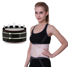 New Elastic Waist Support Belt 3 Steels Plate Protection Tourmaline Self Heating Massage Magnetic Therapy Lumbar Support Belt цена