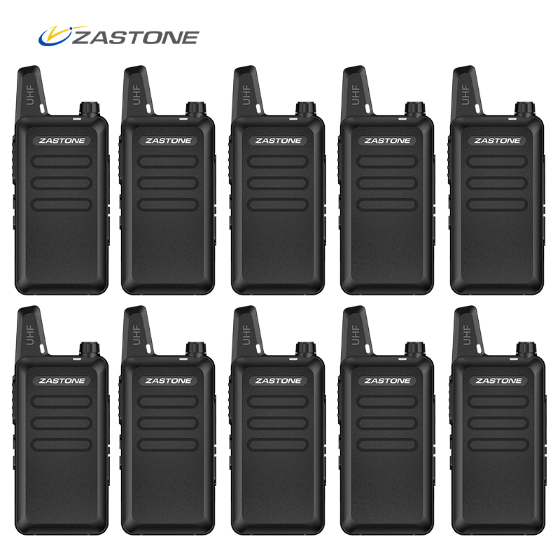 (10pcs) Zastone X6 Mini radio Walkie Talkie 1-5km Portable UHF Ham Radio Communicator Two Way Radio HF Transceiver telsiz 3w