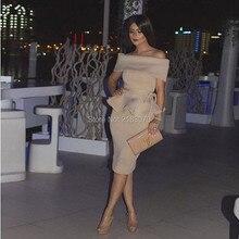 Robe De Cocktail 2016 Dubai Günstige Party Kleider Arabisch Frauen weg von Der Schulter Gerade Kurze Abendkleid Nahen Osten Formalen kleider