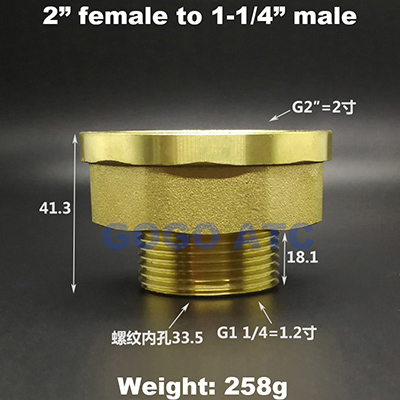 2 inch to 1-1-4-1