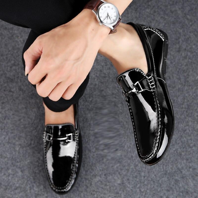 Doux En white Chaude La Taille Glissement Mode Bateau Conduite 37 45 Causalité Respirant Black Véritable Chaussures De Qualité Mocassins Plus Hommes Haute Cuir rCxBWdoeQ