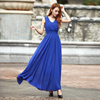 Bohemain Dres 2017 Summer New Women S Dress Long Solid Dress Slim Sleeveless Beach Dress For