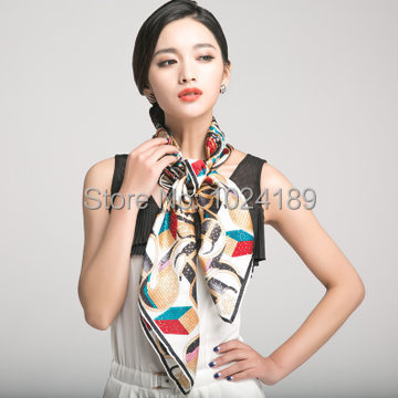 2014 nova famosa marca desigual de alta qualidade floral impresso grande quadrado azul womenautumn100 % pure silk scarf 90 * 90 cm SK103