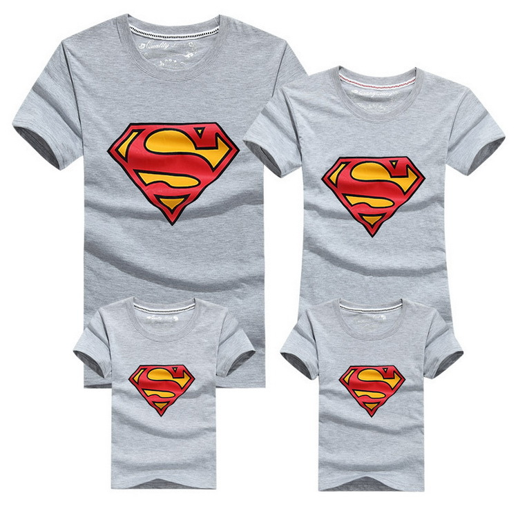 2018 New Family Look Superman T Shirts 9 Colors Summer Family