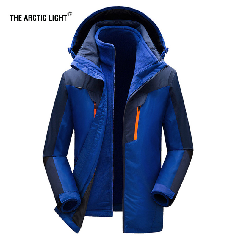 THE ARCTIC LIGHT Women Men Winter Warm Ski Jacket M-5XL Size Windproof Sports Coat High Quality Snow Jacket Hiking Camping 2017 winter jacket men size m xxl high quality thicken men parka jacket zipper fashion short men bomber jacket page 7