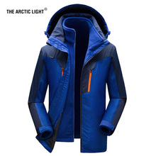 THE ARCTIC LIGHT Women Men Winter Warm Ski Jacket M-5XL Size Windproof Sports Coat High Quality Snow Hiking Camping