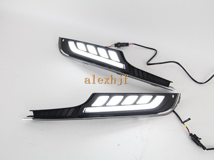 LED Daytime Running Lights LED Fog Lamp, LED Light Guide DRL case for Volkswagen GOLF 7th 2013~ON 1:1 replacement, HA-F eouns led drl daytime running light fog lamp assembly for volkswagen vw golf7 mk7 led chips led bar version