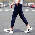 Modelos de explosão coreano simples casual e verão calça casual homens calças Slim pés harem calças