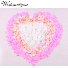 WISHMETYOU 500Pcs 27 Color Wedding Decoration Artificial Rose Petals Birthday Party Proposal Layout Bride To marriage
