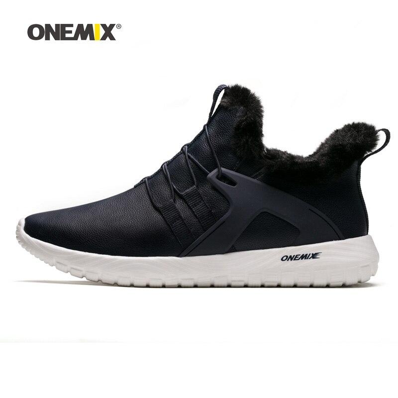 ONEMIX Men Running Shoes for Women Retro Suede Waterproof Footwear Pigskin