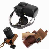 high quality PU Leather Case for Nikon D7100 D7200 Digital camera Bag Cover protector with Strap and Battery case