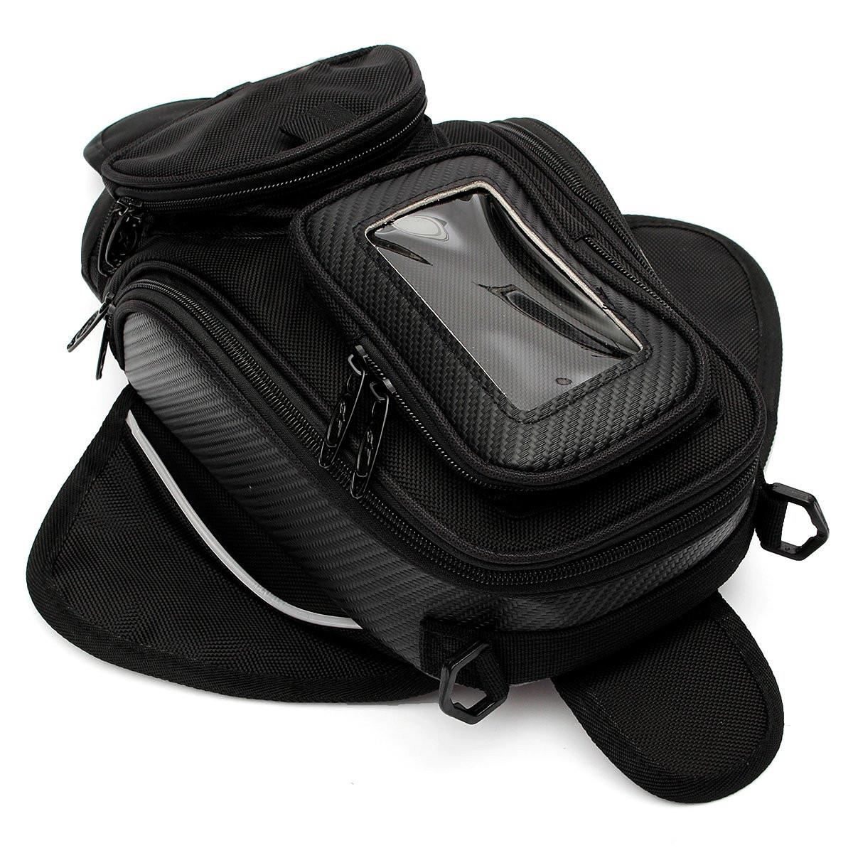 1 Piece Universal Black Oil Fuel Tank Bag Magnetic Motorcycle Motorbike Oil Fuel Tank Bag Saddle Bag east fuel tank cover universal type