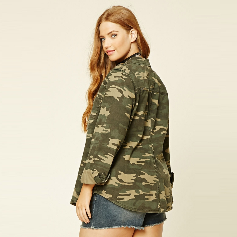 533a3a3c2bb High Quality Autumn Street Parka Jackets Plus Size Military Women Coat  Oversized Boyfriend Utility Jacket In Camo Print 5XL 6XL-in Basic Jackets  from ...