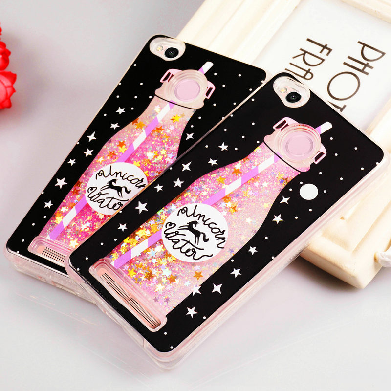 Quicksand Case for Xiaomi Redmi 3S Silicone Glitter Liquid Case For Cover Xiaomi Redmi 3 S Xiomi Xiami Redmi 3s Coque Funda ...