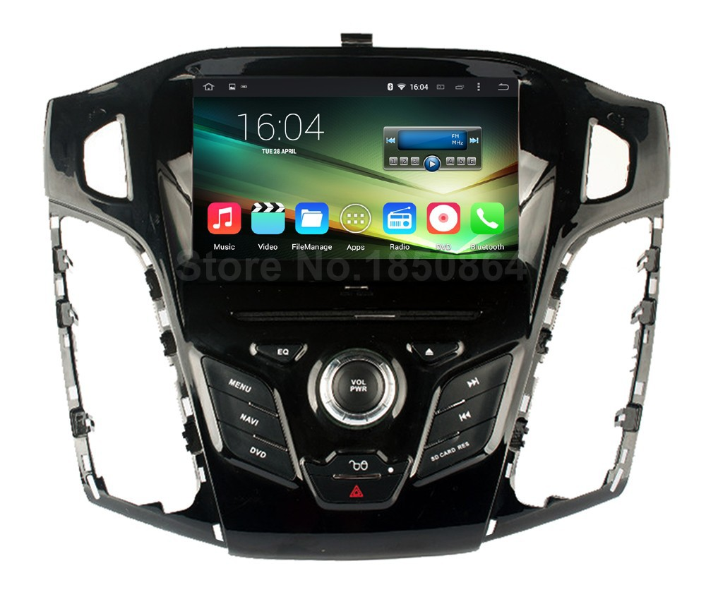 Quad Core 1024*600 Android 5.1.1 Car DVD Player Radio for Ford Focus 3 2012 2013 2014 2015 with Mirror-link BT Wifi GPS joyous 7 touch screen android 4 2 dual core car dvd player w gps bt for ford focus focus 2