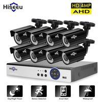 Hiseeu 4MP безопасности Камера Системы 8CH AHD DVR Kit 4/8 шт. 4.0MP HD внутренняя и наружная система видеонаблюдения Камера P2P видеонаблюдение Системы набо...
